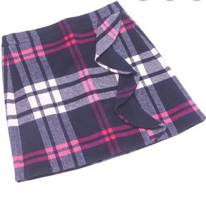 NWT JCrew Plaid Mini Skirt